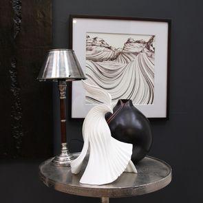 Lampe en chrome et bois - Visuel n°2