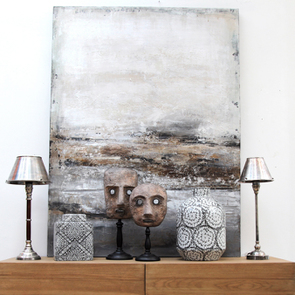 Lampe en chrome et bois - Visuel n°13