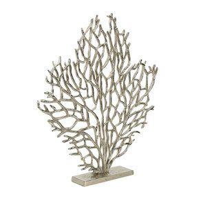 Statue coraux chromée h54