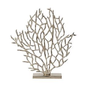 Statue coraux chromée h43