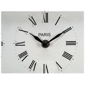 Horloge 4 cadrants en métal chromé à poser - Visuel n°6