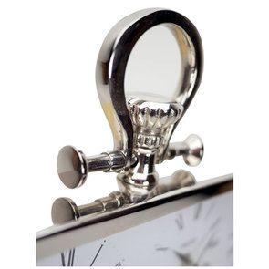 Horloge 4 cadrants en métal chromé à poser - Visuel n°9