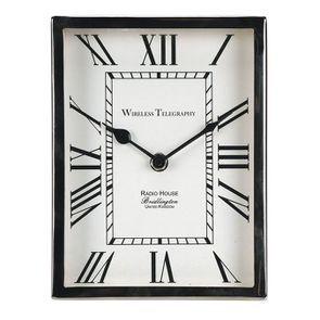 Horloge en métal chromé à poser