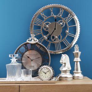 Horloge métal chromé d35