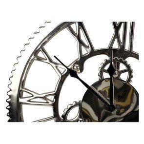 Horloge rouages en métal chromé d48 - Visuel n°3