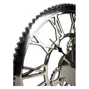 Horloge rouages en métal chromé d48 - Visuel n°4