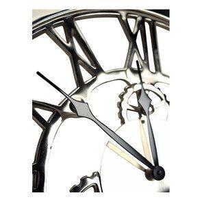 Horloge rouages en métal chromé d48 - Visuel n°5
