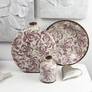 Vase rond décoratif floral en terre cuite - Visuel n°2