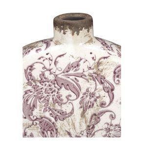Vase rond décoratif floral en terre cuite - Visuel n°6