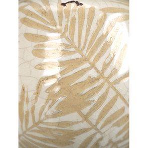 Vase en terre cuite feuillage jaune et blanc - Visuel n°3