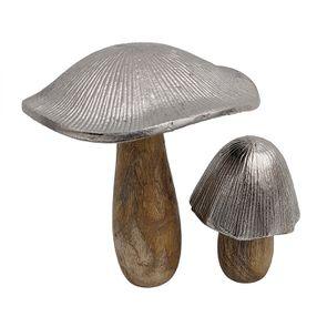 Duo champignons bois et métal - Visuel n°1