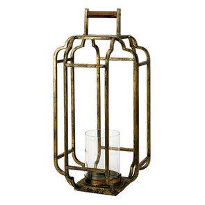 Lanterne en métal laitonné h49 - Visuel n°1