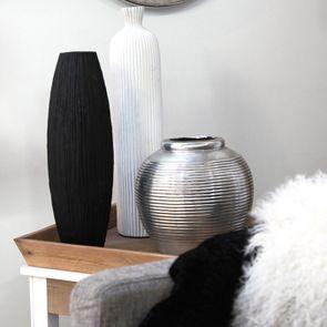 Soliflore en ciment blanc XL