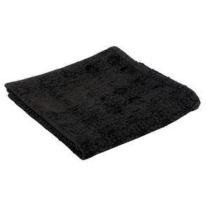 Plaid chenille noir 140x180