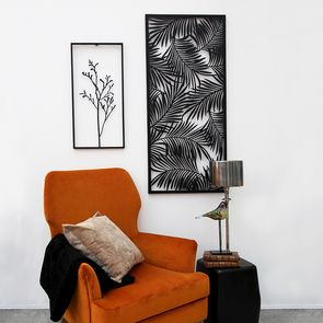Panneau en métal motif jungle