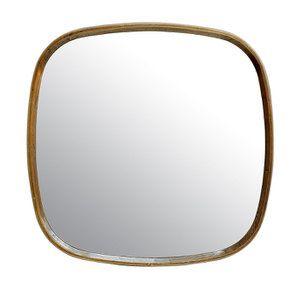 Miroir en métal laitonné 69x70