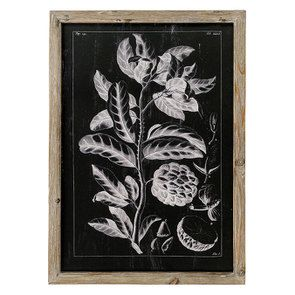 Tableau décoratif herbier revisité