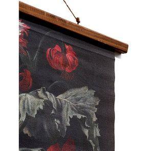 Toile décorative motif floral en lin 80x100 - Visuel n°3