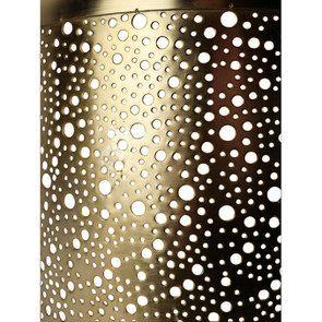 Lanterne en métal laitonné percé - Visuel n°5