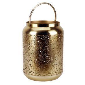 Lanterne en métal laitonné percé