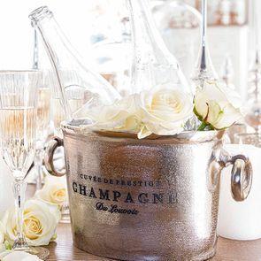 Seau à champagne métal chromé