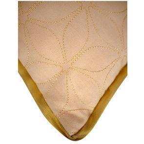 Housse de coussin couleur nude brodée 30x50 - Visuel n°3