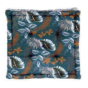 Coussin de sol motif tropical
