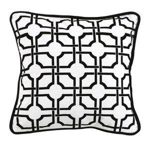 Housse de coussin motif géométrique