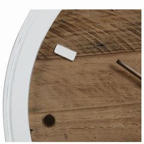 Horloge murale blanche et bois - Visuel n°7