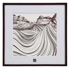 Tableau paysage abstrait