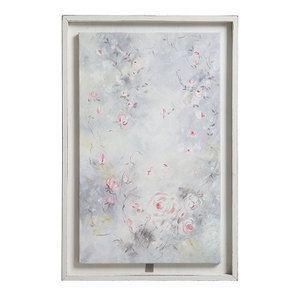Tableau avec toile à motif fleurs