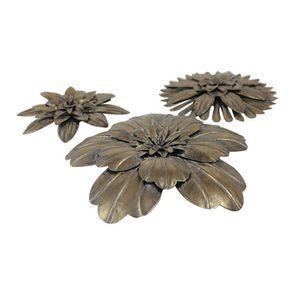 Lot de 3 fleurs en métal - Visuel n°3