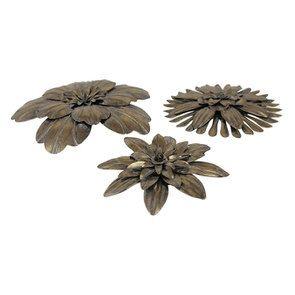Lot de 3 fleurs en métal - Visuel n°4