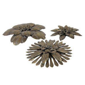 Lot de 3 fleurs en métal - Visuel n°7