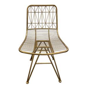 Chaise en métal laitonné - Visuel n°1