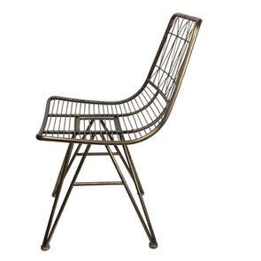 Chaise en métal laitonné - Visuel n°5