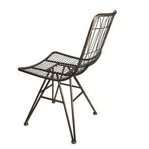 Chaise en métal laitonné - Visuel n°6