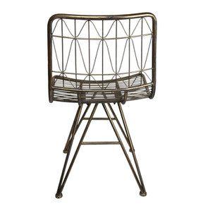 Chaise en métal laitonné - Visuel n°7