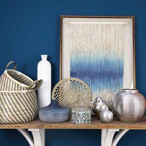 Vase bleu en verre