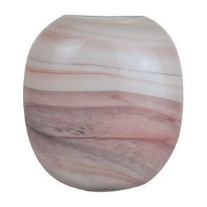 Vase en verre marbre