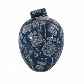 Pot en porcelaine motifs végétaux - Visuel n°6