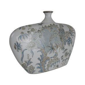 Grand vase en porcelaine à motif animalier
