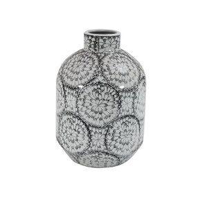 Vase en porcelaine motifs floraux