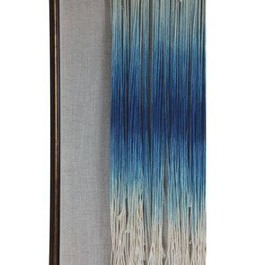 Tableau en macramé bleu - Visuel n°6