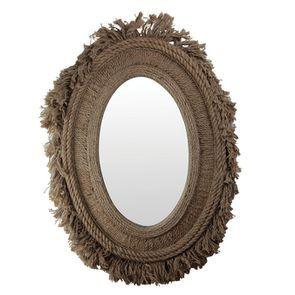 Miroir ovale en corde