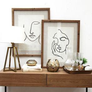 Tableau visage abstrait H70