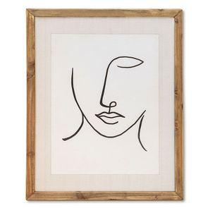 Tableau visage abstrait