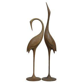 Statues duo oiseaux