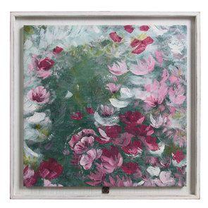 Tableau peinture à l'huile motif fleurs
