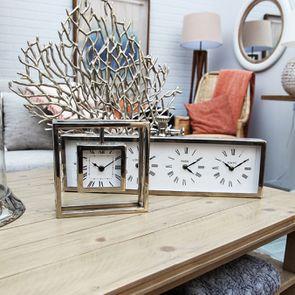 Miroir rond blanc et bois - Visuel n°2